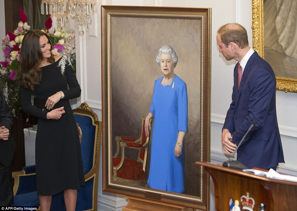 What do you think? The new portrait was subjected to close scrutiny by the Duke and Duchess