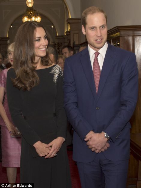 Duke and Duchess pose for the photos