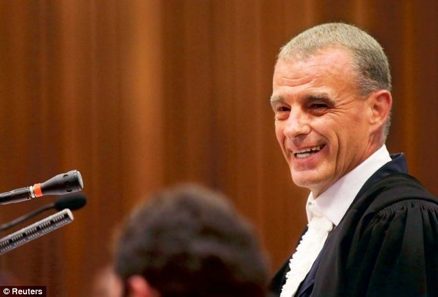 Mr Nel set the stage for a rigorous cross-examination on Wednesday by demanding that Pistorius openly say he killed his girlfriend, sharply challenging him when he said he made a 'mistake'