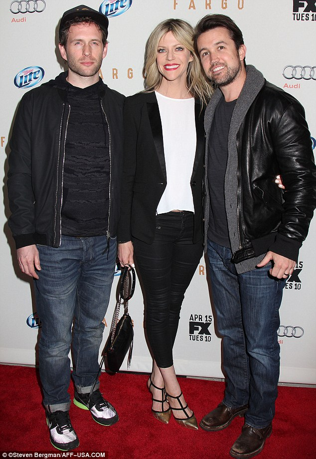 Handsome threesome: Glenn Howerton, Kaitlin Olson & Rob McElhenney at the FX Upfront