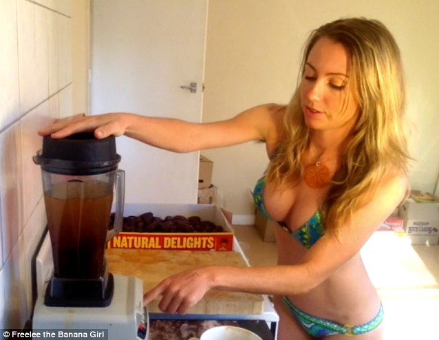 Often appearing in her videos in bikinis and bearing her washboard stomach, Freelee shows fans how to eat 'Raw until Four'