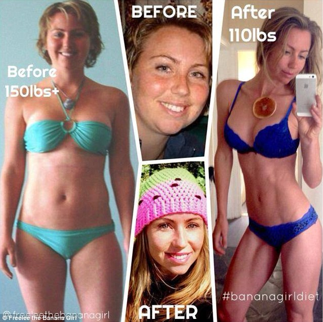 Freelee claims that adopting her low fat raw vegan diet saw her shed 40lb or 5st 7lb