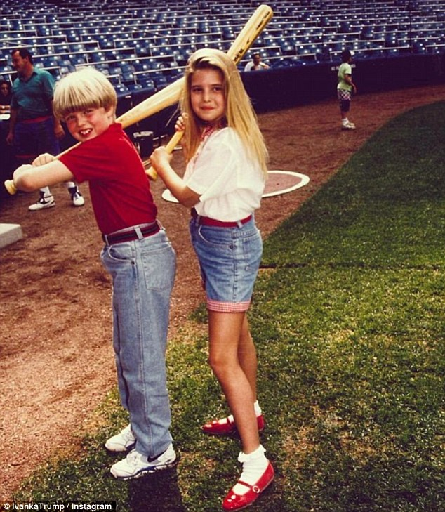 Throwback Thursday: Ivanka Trump shared an Instagram snap this morning of herself and her younger brother Eric gripping baseball bats as tweens