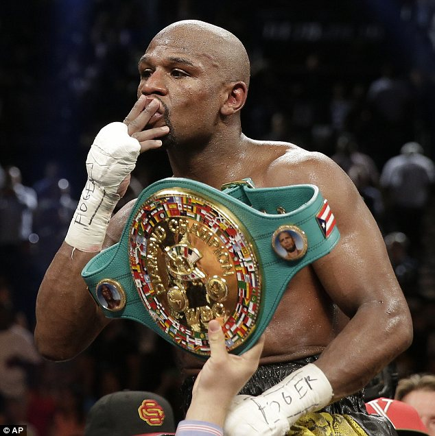 Undefeated: But Floyd Mayweather plans to retire next season