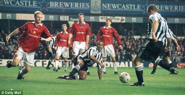 Wanted man: Newcastle and Manchester United also battled over Alan Shearer in 1996