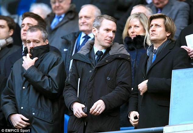 Clear conscience: Iain Moody (centre) and Crystal Palace have denied all allegations made by Tan