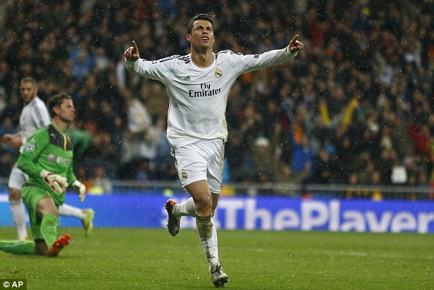 Prolific: Cristiano Ronaldo was named world player of the year after his exploits with Real Madrid