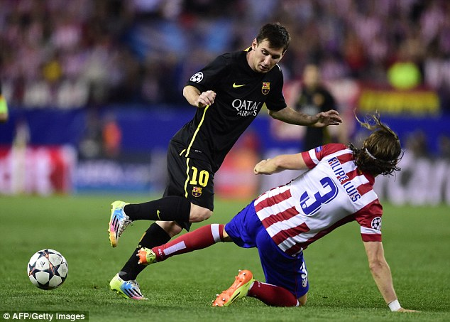 Superstar: Barcelona forward Lionel Messi has had a number of injury problems this season