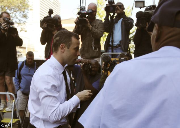 Pistorius' return to the witness box today followed a week of testimony in which the double-amputee runner said he killed Miss Steenkamp by accident after mistaking her for an intruder in his home last year