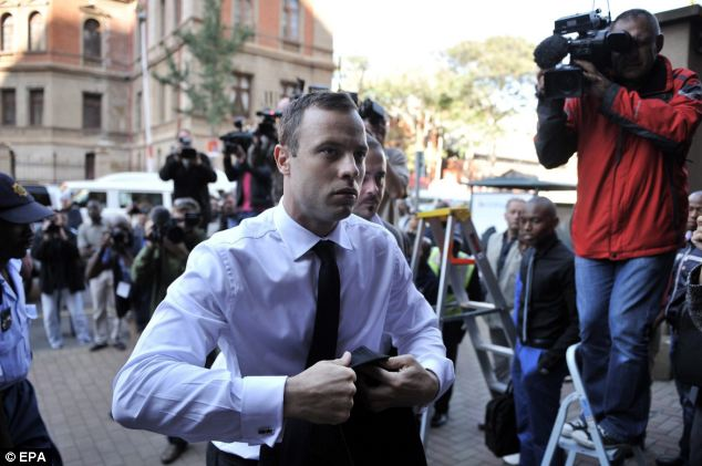 Pistorius, arriving at court today, said he was struggling to give clear testimony because he was tired, prompting the judge to ask him if he was too tired to proceed with a tough cross-examination