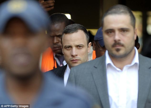Pistorius, who claims he shot Miss Steenkamp by mistake thinking she was a nighttime intruder behind a toilet door in his bathroom, faces life in prison if convicted of murder