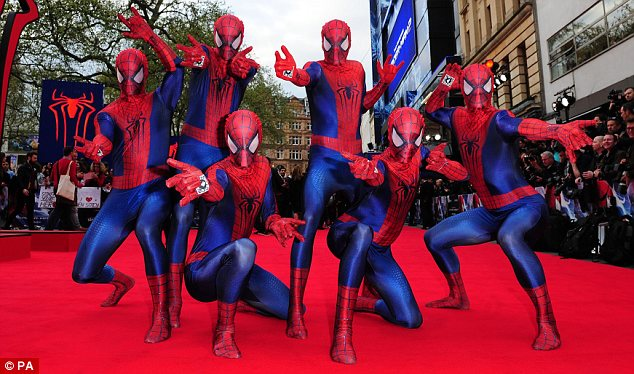 Legal web: The Amazing Spider-Man 2 movie opened in London on Thursday