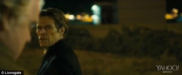 Veteran: Willem Dafoe also makes an appearance in the trailer as the character Tommy Brue