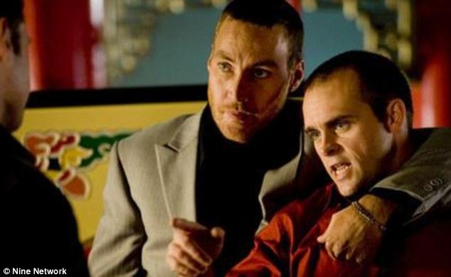 All change? Les, right, played drugdealer Jason Moran in Underbelly alongside Callan Mulvey, left, as Mark Moran