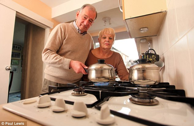 Heated: Derek and Joan Knowles are keen to switch
