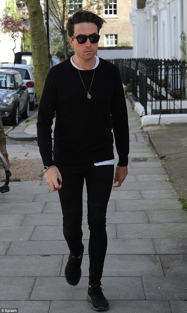 Back in the UK: Nick Grimshaw flew back to England to support his friend Pixie Geldof rather than heading to Coachella festival - he was spotted in London on Thursday