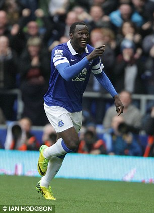 Prolific: On-loan forward Romelu Lukaku has scored 14 goals in all competitions for Everton this season