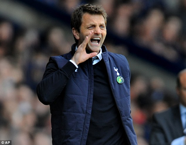 Barking out the orders: Tottenham boss Tim Sherwood has praised Everton's transfer dealings this season