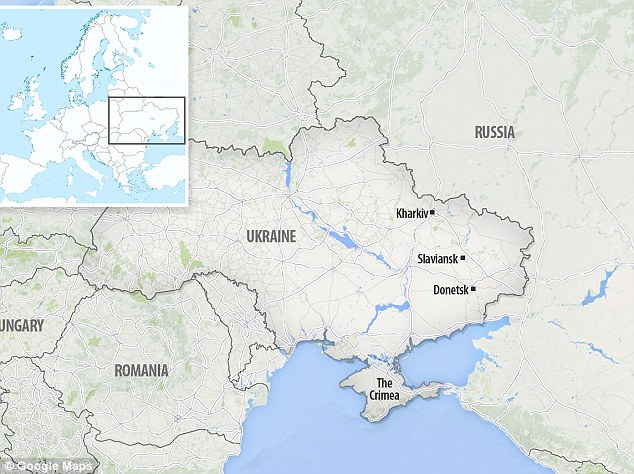 The deepening unrest is spreading through towns and cities in eastern Ukraine, close to the border with Russia