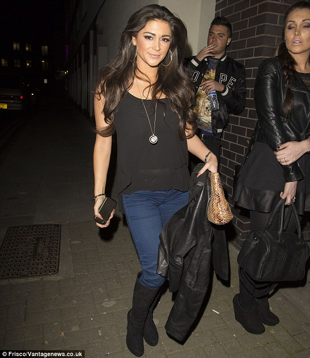 Support: Casey was seen at the O2 venue in Islington on Friday evening