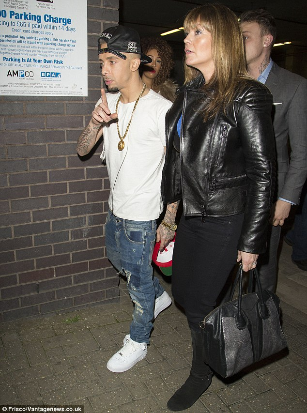 Getting to know you: Dappy was seen with Jim's wife Michelle after the show