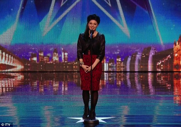 Winning everyone over: After questioning her 'right to be on this earth', Lucy Kay sailed through to the next round of Britain's Got Talent 2014 on Saturday night following an emotional performance