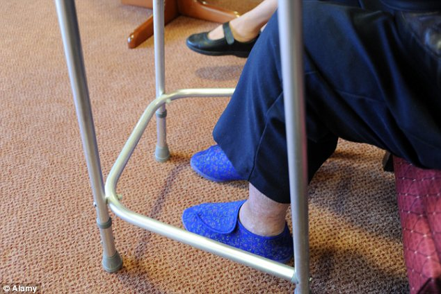 Elderly: Under the proposals, billions of pounds will be diverted from hospital budgets to pay for care homes
