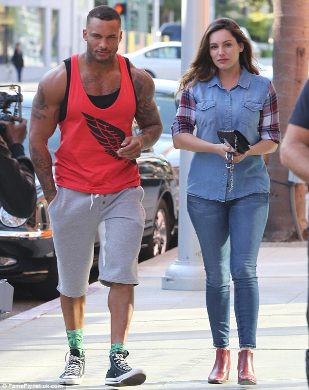 There may be trouble ahead: Kelly Brook's fianceé David McIntosh has been accused of sending flirty messages to a porn star on Facebook