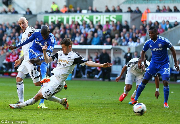 On form: Demba Ba scored a second match winning goal in the space of a week to stake his claim