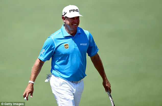 All smiles: Westwood is looking forward to Sunday's final round at Augusta