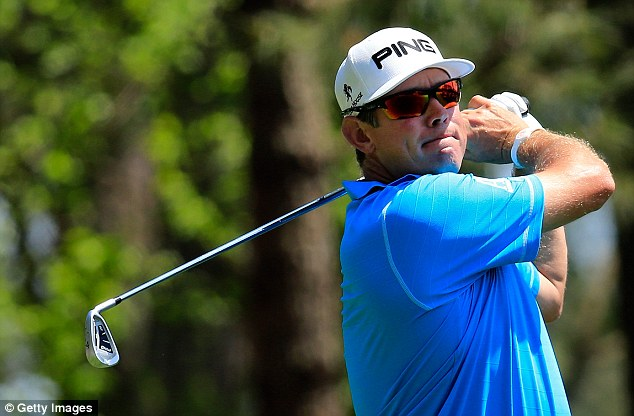 In the mix: Lee Westwood is in a good position heading into the final round of the Masters at Augusta