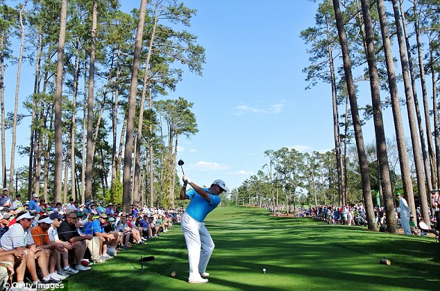 On form: Westwood, pictured here hitting his tee shot on the 17th hole, managed a two-under-par 70 on day three