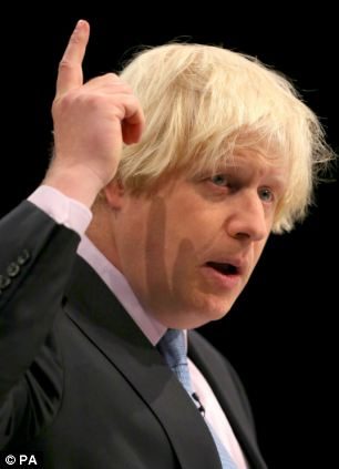 Mayor of London Boris Johnson, who could go up against Doreen Lawrence in the next mayor election
