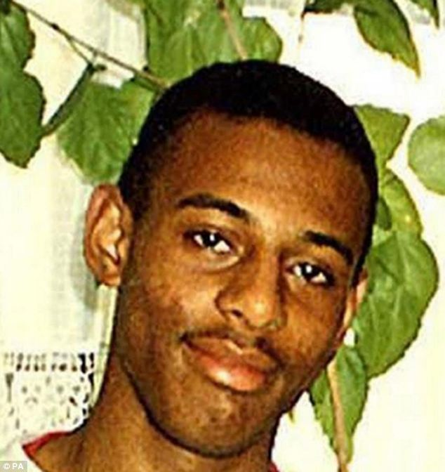 Mrs Lawrence's son Stephen, pictured, was stabbed to death in an unprovoked racist attack in 1993
