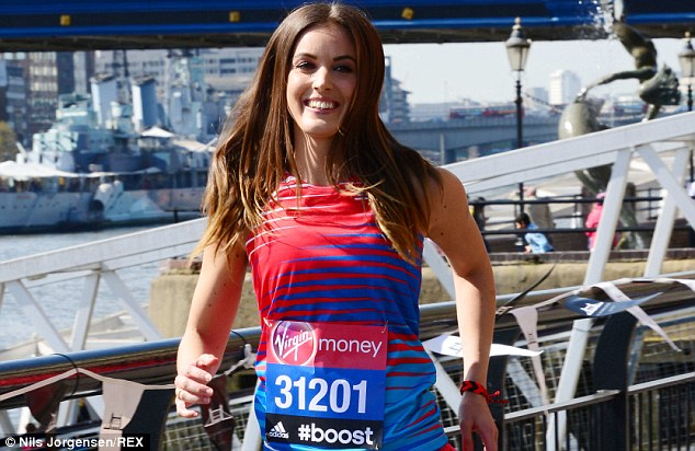 Prepared? Webster was all smiles during the celebrity London Marathon photocall last week