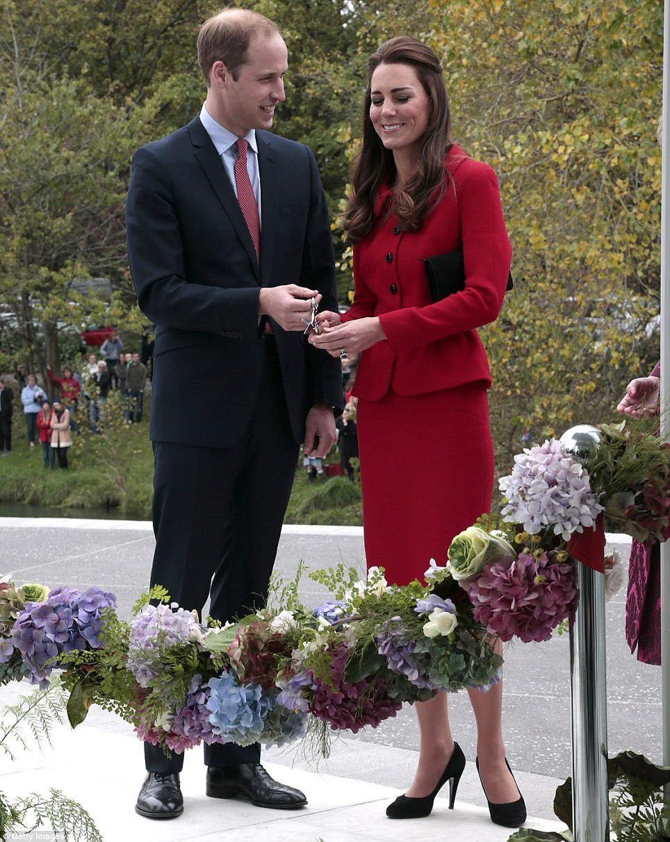 During the day, the Duke and Duchess of Cambridge officially opened the visitors centre of the Botanic Gardens