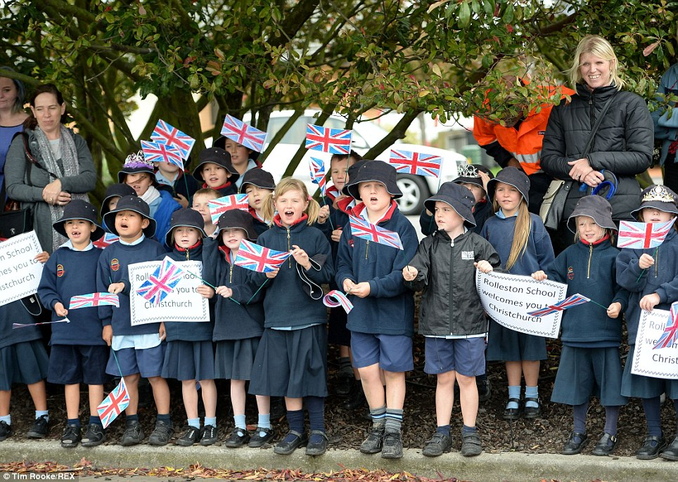 Children from the Rolleston School even made signs for the occasion