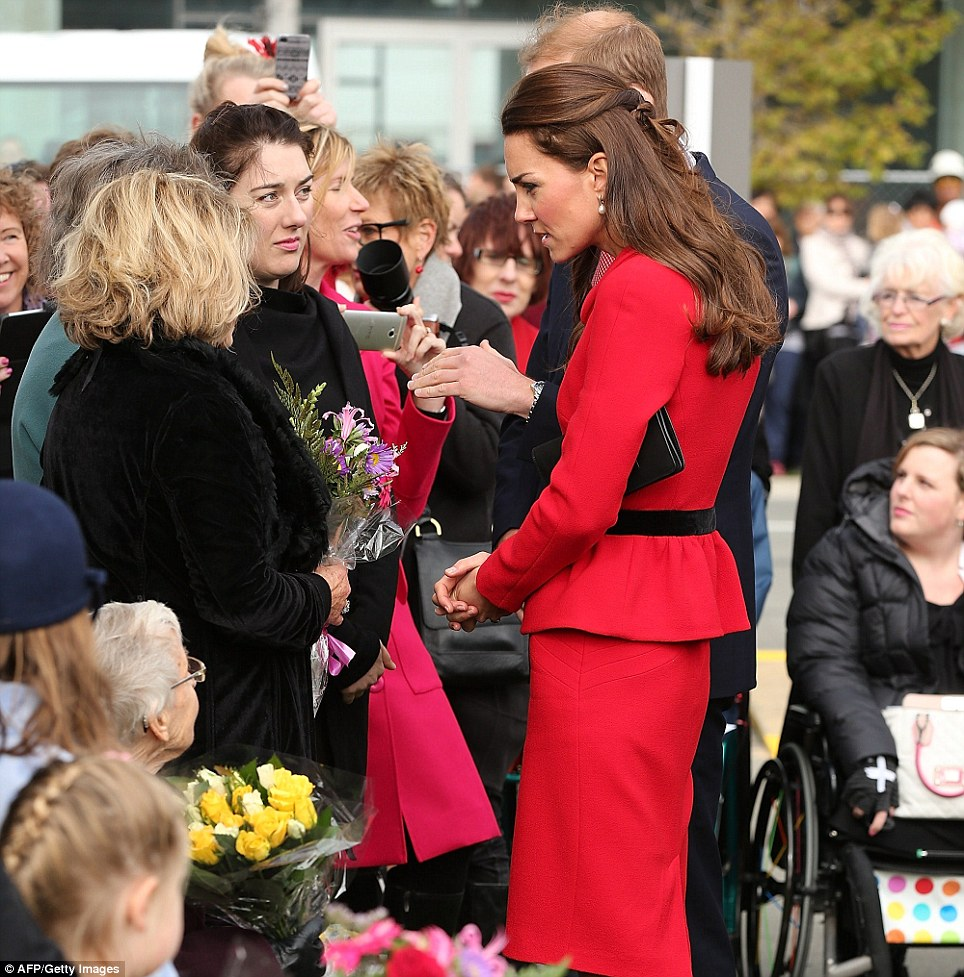 The Duchess of Cambridge spoke to families who lost loved ones in the 2011 Christchurch earthquake, which claimed 185 lives