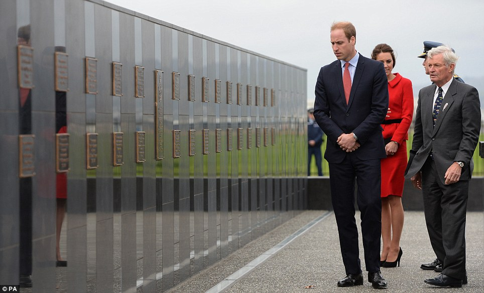 The Duke and Duchess were taken on a full tour of the grounds of the Air Force Base