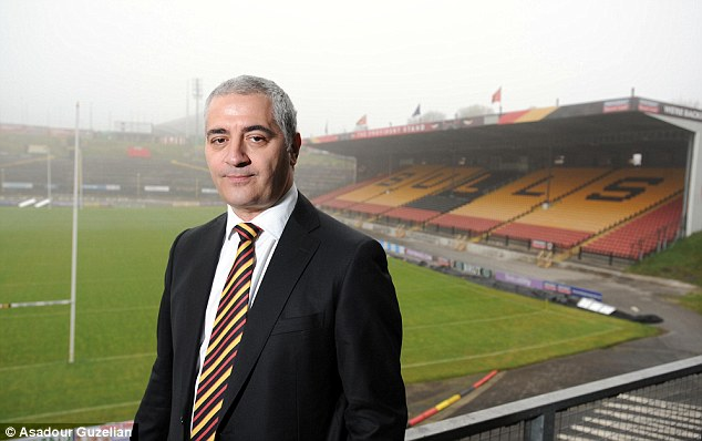 Appeal: Bradford's new owner Marc Green will contest the six-point penalty imposed by the Rugby Football League seven weeks ago