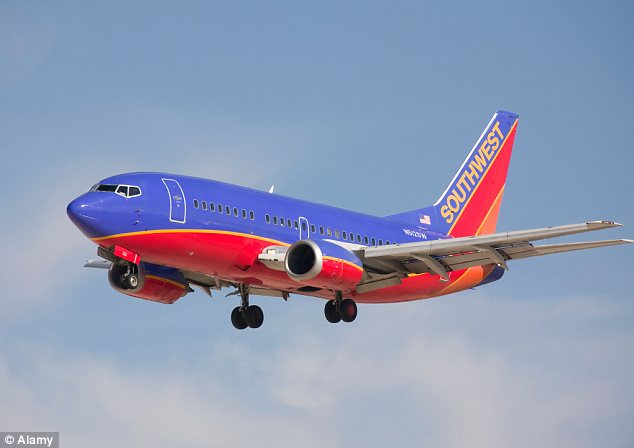 Trouble in the air: It happened aboard on board a Southwest Airlines flight from Chicago to Sacramento