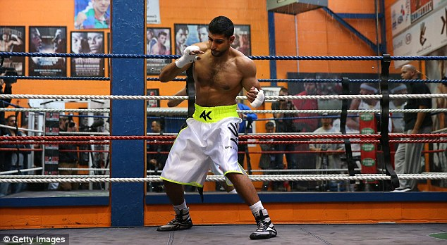 Pure boxer: Amir Khan will have to forget about Floyd Mayweather for now and focus on his next bout