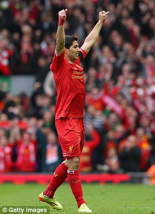 Helping hand: The youngster has been handed life advice for senior players Luis Suarez and Steven Gerrard