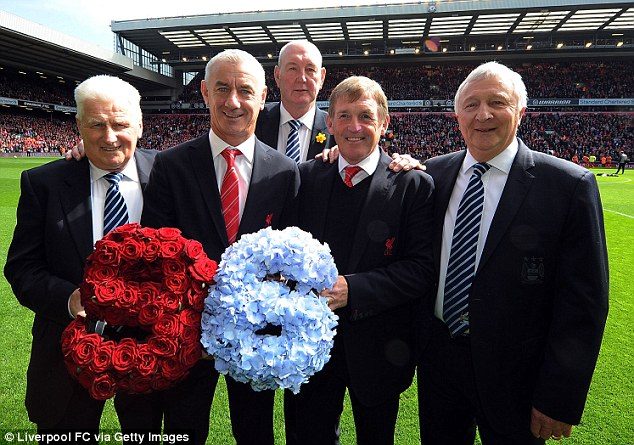 Noticed the talent: Kenny Dalglish (second from right) knew straight away they had a future star