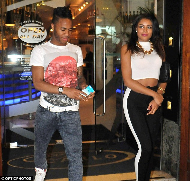 Cleared: Sterling was alleged to have assaulted model girlfriend Shana Ann Rose Halliday last year