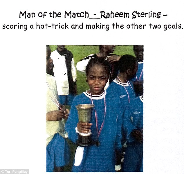Matchwinner: A picture of Sterling after winning the Year 8 Brent Cup at Copland Community School
