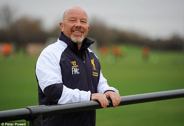All smiles: Ex-Liverpool academy director Frank McParland was instrumental in Sterling coming through