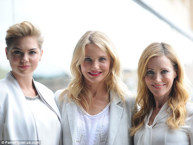 The trio looked radiant as their blonde hair and white tops glowed in the Sydney sunlight