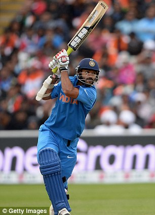Explosive: India opener Shikhar Dhawan made up the Five for his Champions Trophy displays