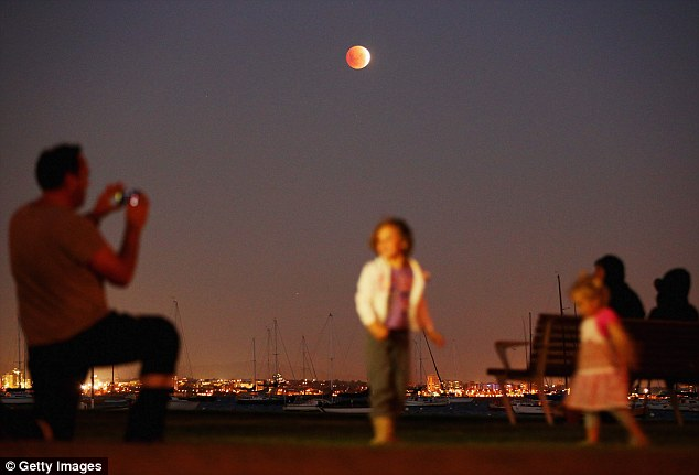 Captivating: Stargazers the world over were transfixed by the rare event